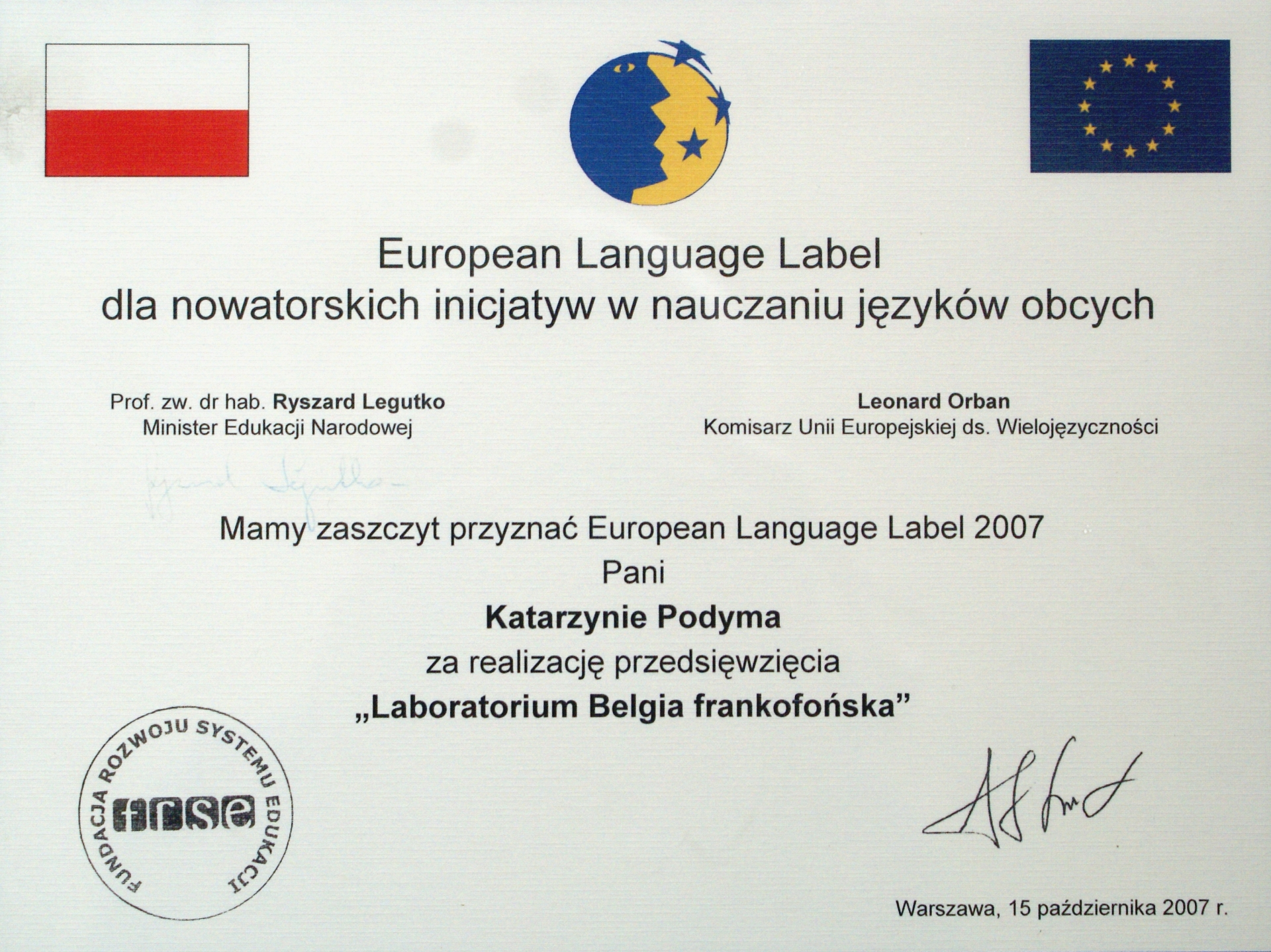 European Label 2007