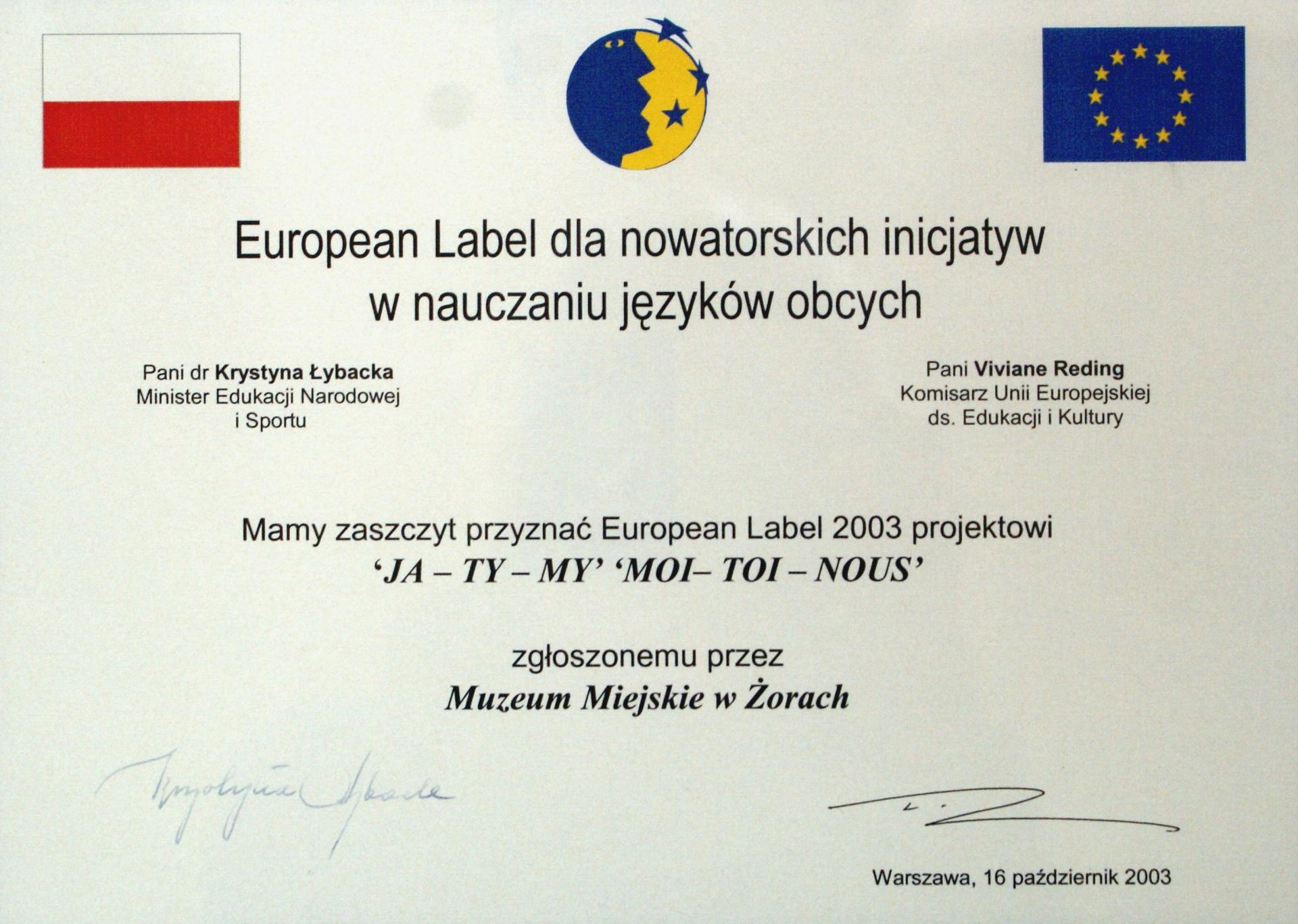 European Label 2003