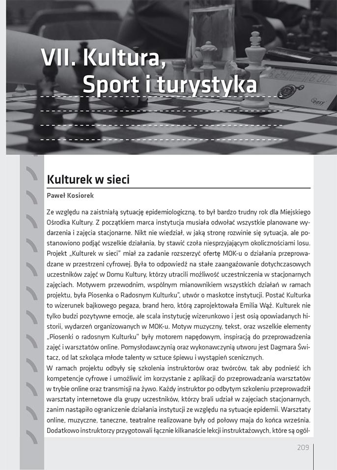 Kalendarz żorski 2021, rozdział 7 – Sport i turystyka