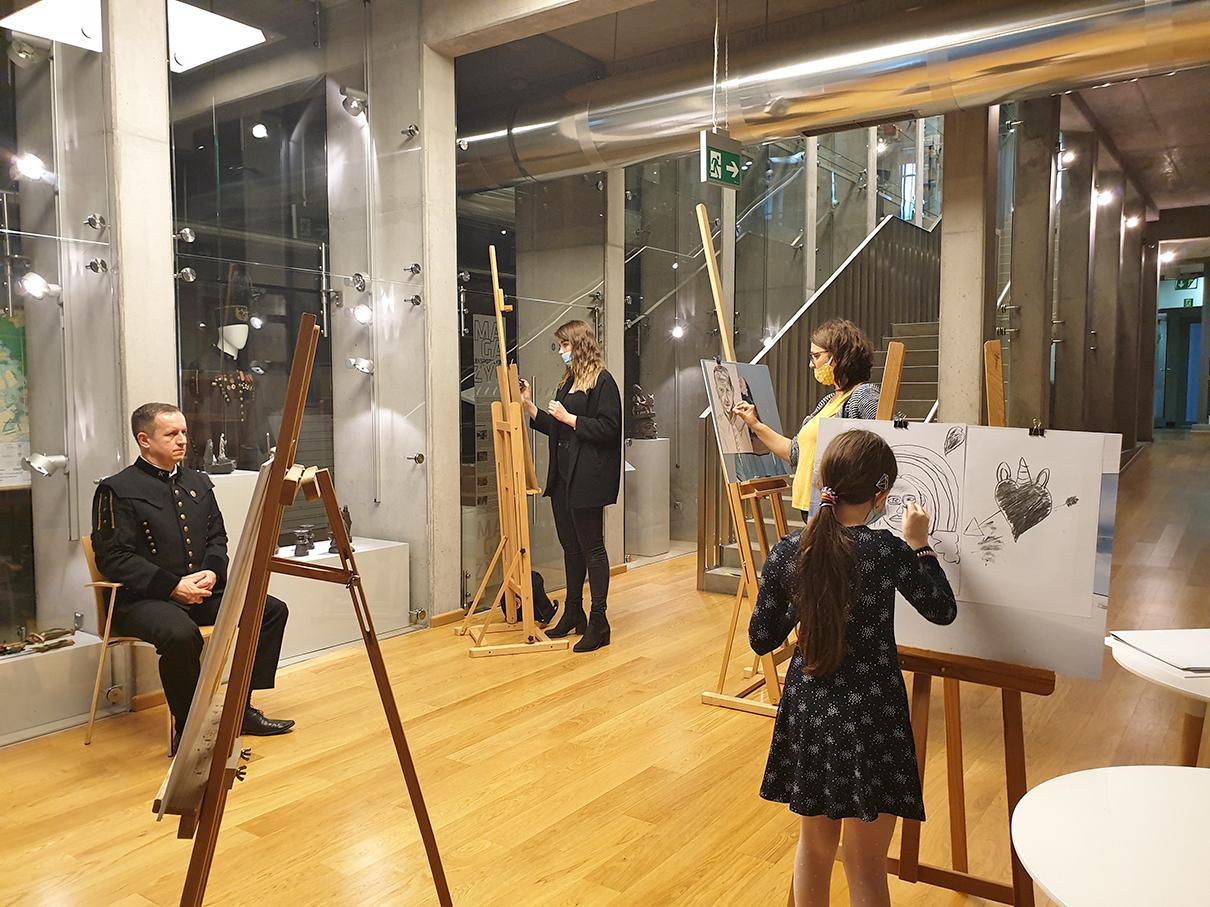 Noc Muzeów 2021 Żory – lekcja rysunku