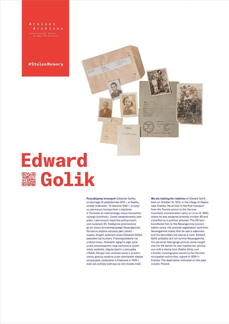 StolenMemory Edward Golik
