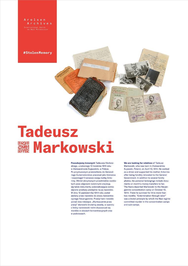 StolenMemory Tadeusz Markowski