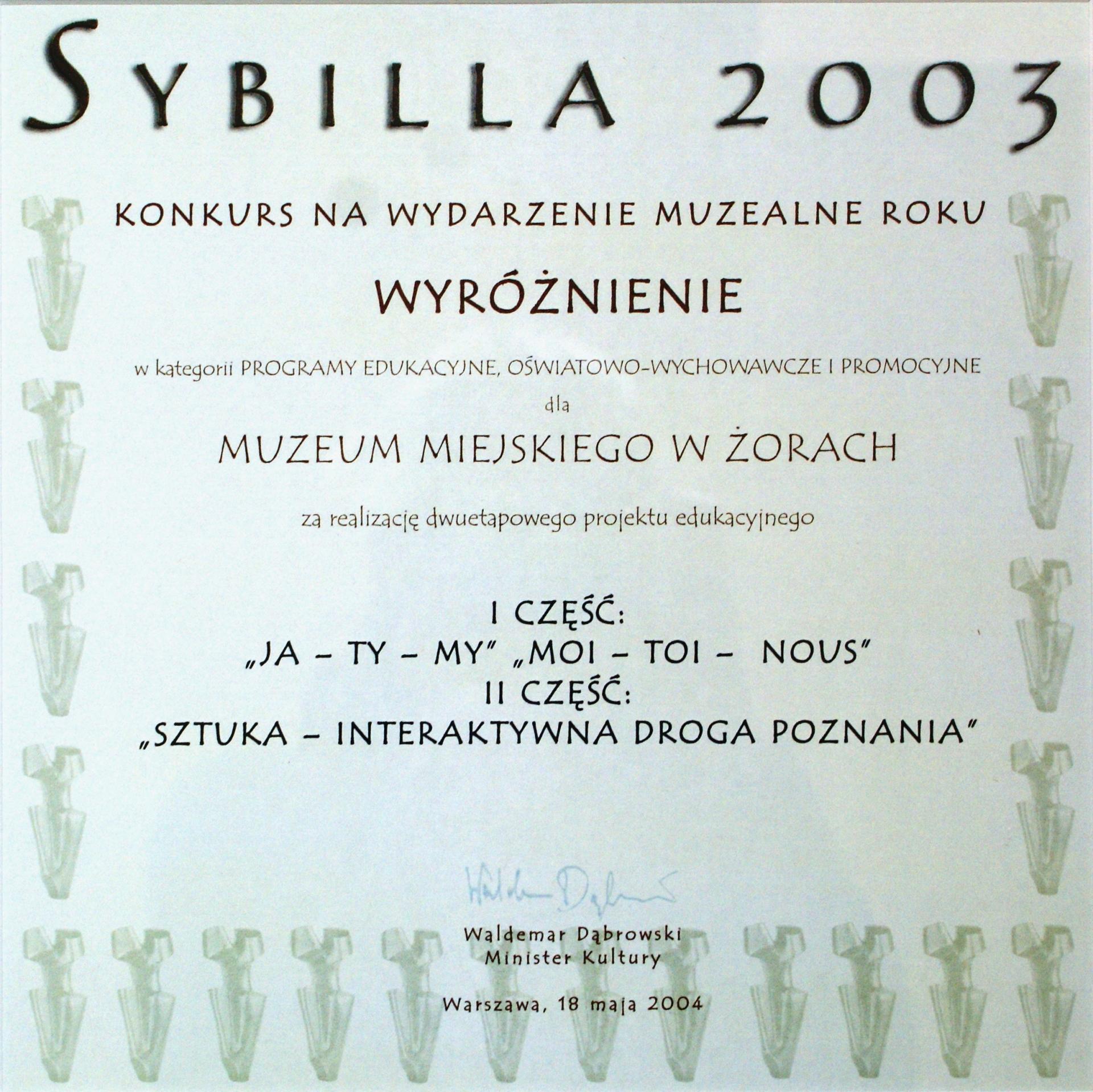 SYBILLA 2003