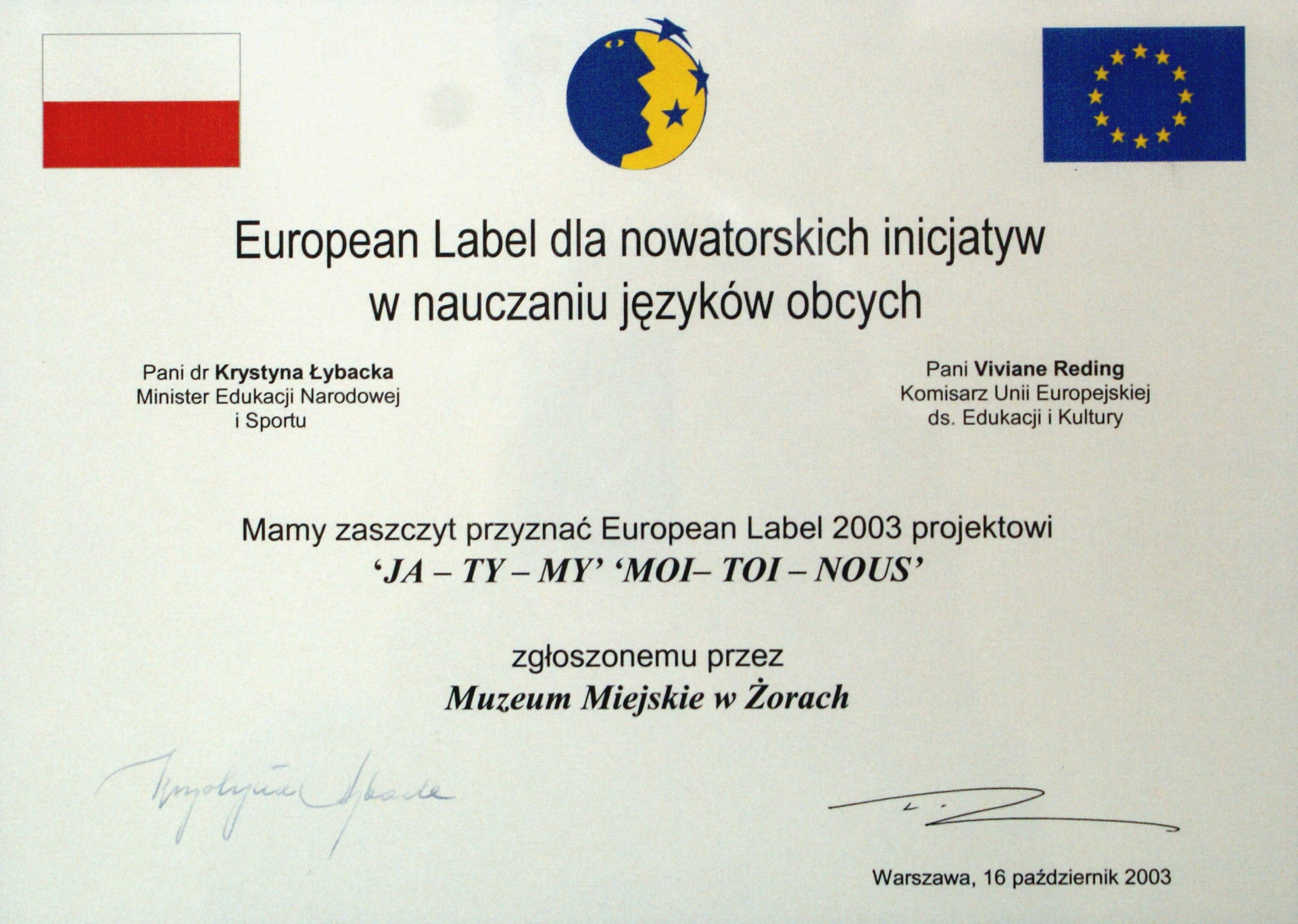 European Label 2003