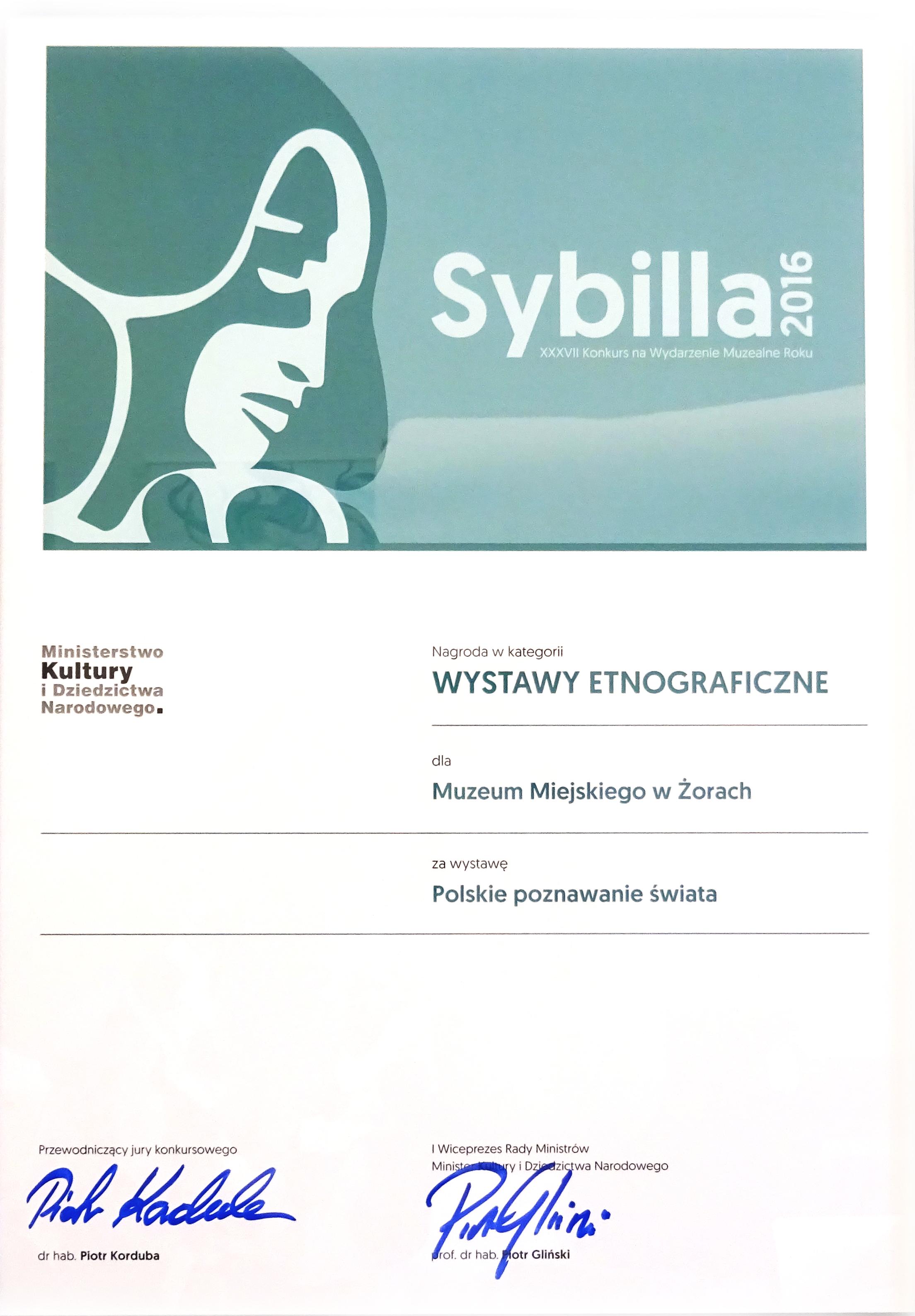 Nagroda Sybilla 2016